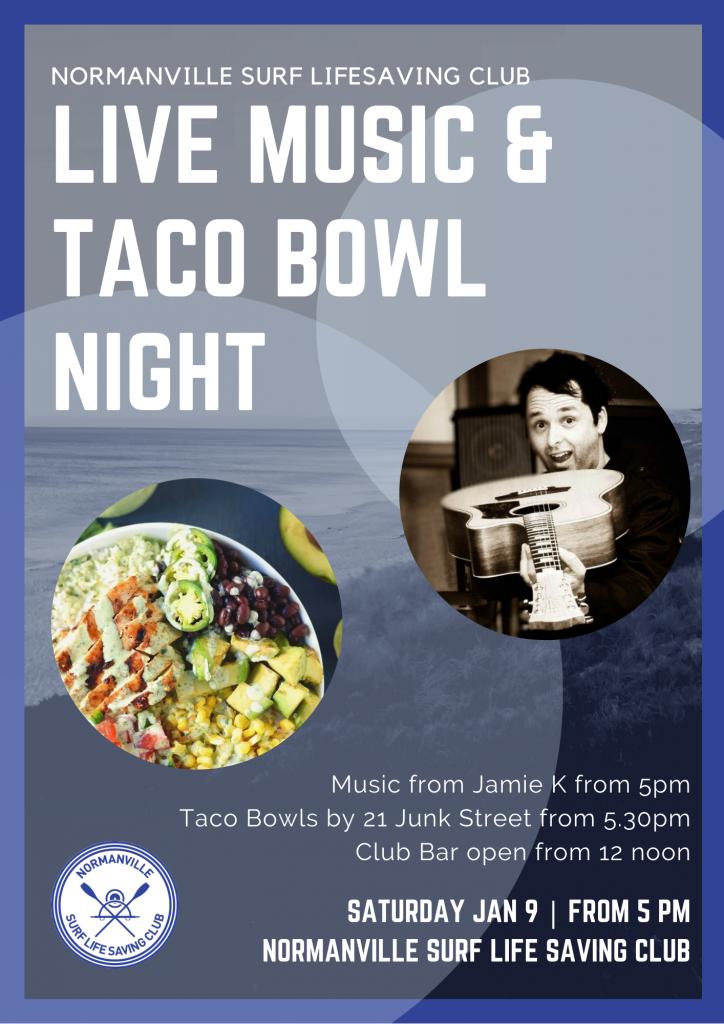LIVE MUSIC & TACO BOWL NIGHT